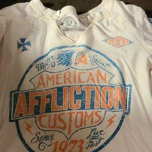 Affliction t shirt worn twice